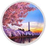 Cherry Blossom Festival  Round Beach Towel