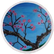 Cherry Blossoms II Round Beach Towel