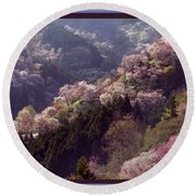 Cherry Blossom Season In Japan Round Beach Towel
