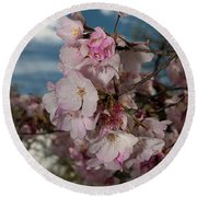 Cherry Blossoms Vertical Round Beach Towel