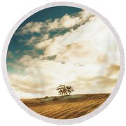Cherry Farm In The Sewing Round Beach Towel
