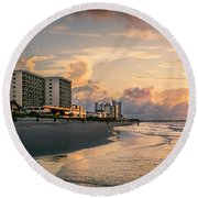 Cherry Grove Panoramic Sunrise Round Beach Towel