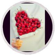 #cherry #sumo Round Beach Towel