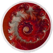 Cherry Swirl Round Beach Towel