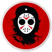 Che's Halloween Round Beach Towel