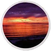 Chesapeake Bay Sunset Round Beach Towel