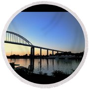 Chesapeake City Round Beach Towel