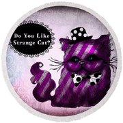 Cheshire Cat Round Beach Towel