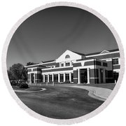 Round Beach Towel featuring the photograph Chesterfield Virginia Juvenile And Domestic Courts by Melissa Messick