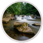 Chestnut Creek Falls  Round Beach Towel