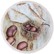 Chestnuts Round Beach Towel