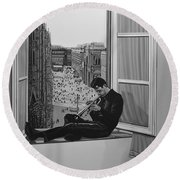 Chet Baker Round Beach Towel by Paul Meijering