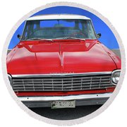 Round Beach Towel featuring the photograph Chev Wagon by Bill Thomson