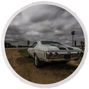 Round Beach Towel featuring the photograph Chevelle Ss by Aaron J Groen