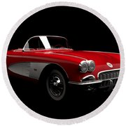 Chevrolet Corvette C1 Round Beach Towel
