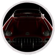 Chevrolet Corvette C1 - Front View Round Beach Towel