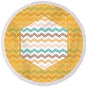 Chevron Hexagon Round Beach Towel