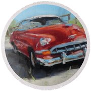 Chevy Bel Air Round Beach Towel