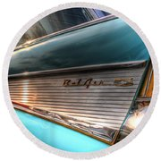 Chevy Bel Air Round Beach Towel