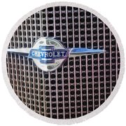 Chevy Bowtie Round Beach Towel