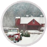 Chevy Country 2 Round Beach Towel