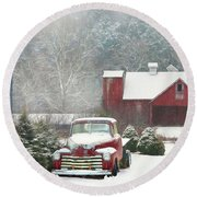 Chevy Country Round Beach Towel