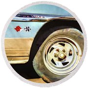 Round Beach Towel featuring the photograph Chevy Deluxe by Lou Novick