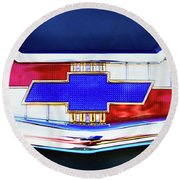 Chevy's Fifties Bowtie Round Beach Towel