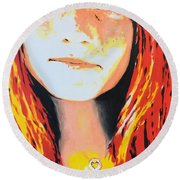 Chiara Round Beach Towel by Victor Minca