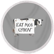 Chic Filet T-shirt Round Beach Towel by Herb Strobino