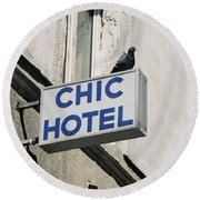 Chic Hotel Round Beach Towel