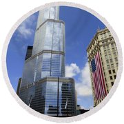 Chicago 2016 10 Round Beach Towel by Tina M Wenger