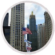 Chicago 2016 8 Round Beach Towel by Tina M Wenger