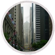 Chicago Architecture - 17 Round Beach Towel by Ely Arsha