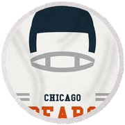 Chicago Bears Vintage Art Round Beach Towel by Joe Hamilton