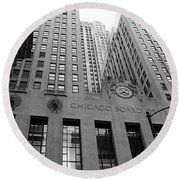 Chicago Board Of Trade Round Beach Towel