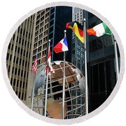 Round Beach Towel featuring the photograph Chicago by Gary Wonning