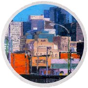 Chicago Highrise Buildings Round Beach Towel
