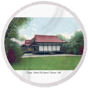 Chicago - Japanese Tea Houses - Jackson Park - 1912 Round Beach Towel