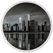 Chicago Lake Front Round Beach Towel