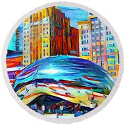 Chicago Millennium  Round Beach Towel