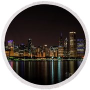 Chicago Skyline Round Beach Towel