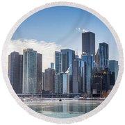 Chicago Skyline Round Beach Towel