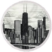 I Love Chicago Volume 1 Round Beach Towel