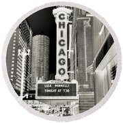 Chicago Theater - 2 Round Beach Towel by Ely Arsha
