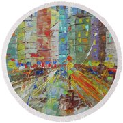 Chicago Usa Round Beach Towel