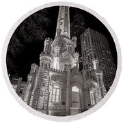 Chicago Water Tower Round Beach Towel