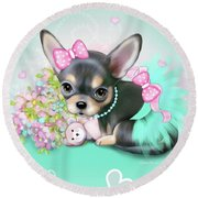 Chichi Sweetie Round Beach Towel