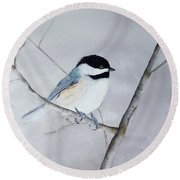 Chickadee II Round Beach Towel