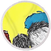 Chickens One Round Beach Towel